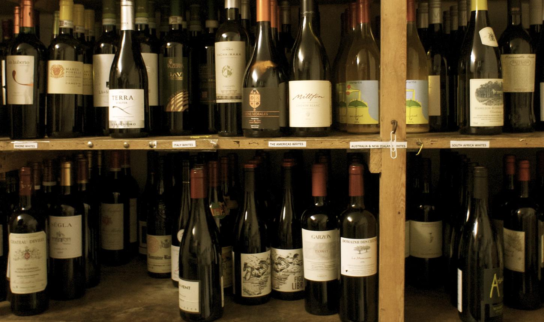 Nut Tree Inn wine rack